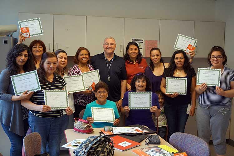 Nutrition class w/diplomas