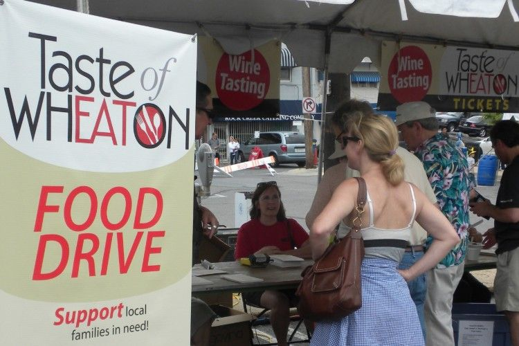 MUM Food Drive at Taste of Wheaton